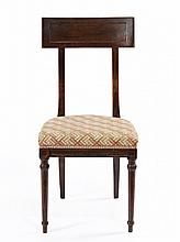 A SET OF EIGHT WALNUT CHAIRS 20th Century