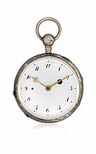SWISS KEY-WINDING POCKET WATCH WITH QUARTER REPEATER, 1820 CIRCA