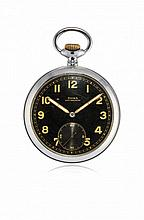 KEY-LESS POCKET WATCH DOXA FOR THE GERMAN ARMY, '40S