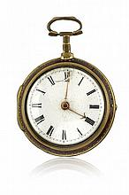 TWO ENGLISH PAIR AND TRIPLE-CASED POCKET WATCHES, SIGNED DWERRIHOUSE ED EDWARD PRIOR, GEORGE III ERA