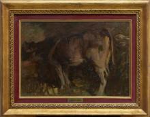 MARIO MORETTI FOGGIA 1882-1954 Stalla a Gazzuolo,