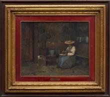 MARIO MORETTI FOGGIA 1882-1954 In cucina Olio su t