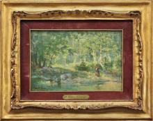 MARIO MORETTI FOGGIA 1882-1954 Nel bosco Olio su t