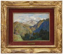 MARIO MORETTI FOGGIA 1882-1954 Paesaggio montano O