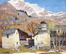 MARIO MORETTI FOGGIA 1882-1954 Monte Moro Olio su
