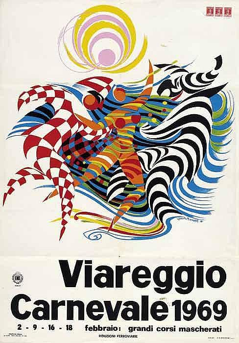 Advertising poster shows - VIAREGGIO