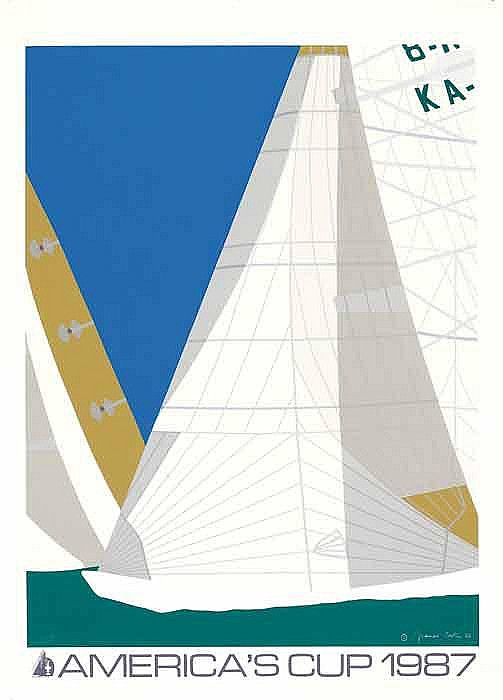 Advertising poster AMERICA'S CUP