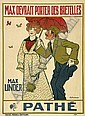French silent movie poster, Adrian Barrere, Click for value