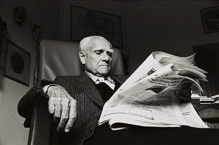 Paola Agosti  1947 - Alberto Moravia Roma  1988