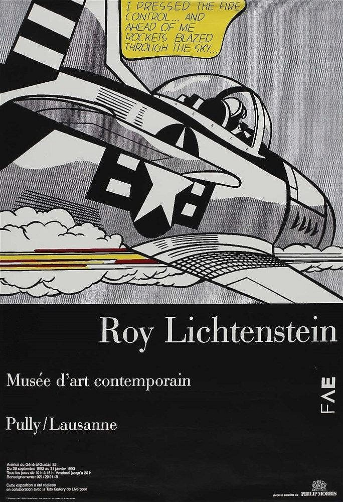 Mus e d art contemporain pully lausanne roy lichtenstein se for Poster contemporain