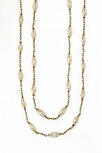 ANTIQUE YELLOW GOLD LONG CHAIN