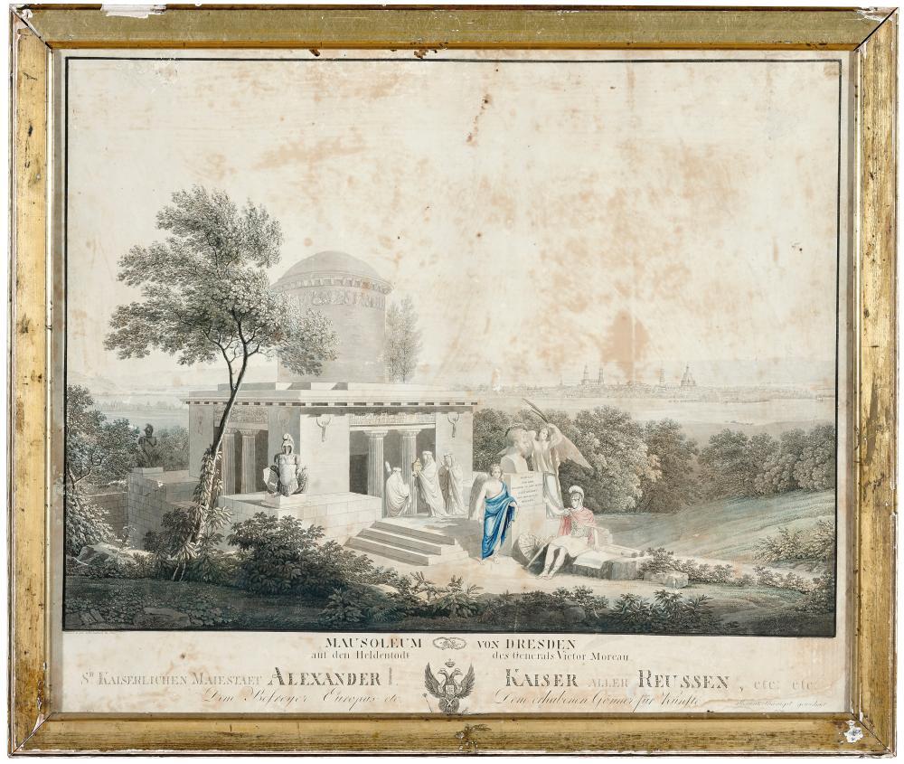 CHRISTIAN GOTTLOB HAMMER 1779-1864 MAUSOLEUM VON DRESDEN 1815 - MAUSOLEUM VON DRESDEN 1815
