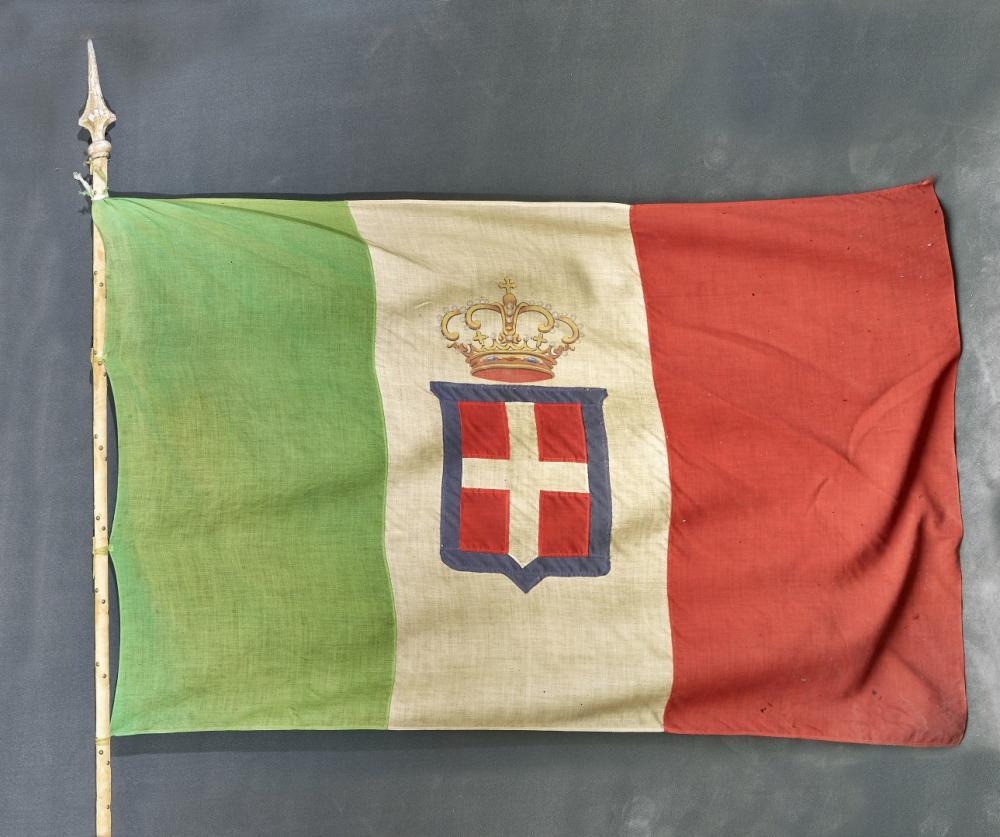 BANDIERA DEL REGNO D'ITALIA XIX-XX SECOLO - BANNER OF THE KINGDOM OF ITALY 19TH-20TH CENTURY