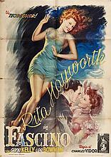 """Manifesto """"Fascino"""" (Cover girls) con Rita Hayworth"""