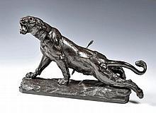 Lionne blessée da Charles Valton (1851-1918)