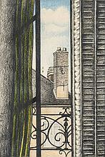 Morell, Pit. 1939 Kassel - in Worpswede ansässig. 2 Arbeiten auf Papier: 1) Komposition. Aquarell. 1981. Signiert u. datiert u. re. Pierre Morell 1981. 8 x 6 cm. 2) Blick aus dem Fenster. Bunt- und Bleistift. 1979. Signiert u. datiert u. li. P. Morell 1979. 18 x 12,3 cm. Jew. hinter Glas ger. ca. 24,5 x 19 cm, ungeöffn.