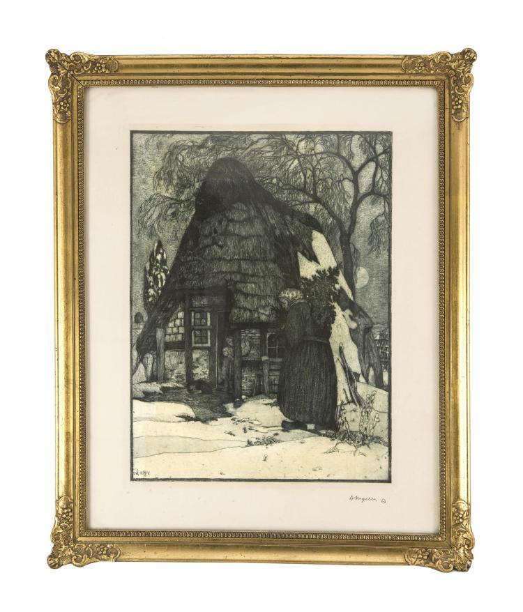 vogeler heinrich 1872 bremen 1942 kasachstan 39 39 weihnach. Black Bedroom Furniture Sets. Home Design Ideas
