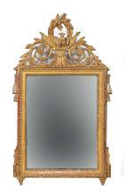 A gilt-wood wall mirror