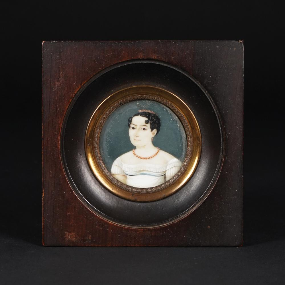 2 19th century miniatures, one signed Nicola Rossi (active in Naples in early 19th century)
