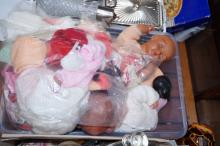 Group of vintage dolls and accessories