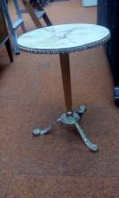 Faux onyx side table