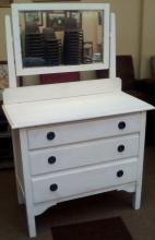 Oak dressing table, painted