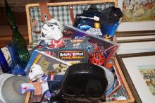 A basket of Star Wars toys