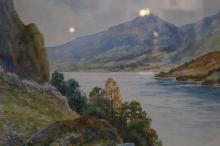 Loch Lohan watercolour by P Derwin