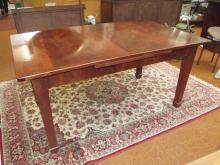 Mahogany crossbanded dining table