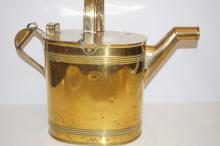 Vintage brass watering can, stamped H.F & Co, height 41cm