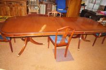 Charles Barr extending dining table and four chairs