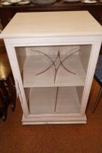 Limed and glazed cabinet