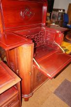 Rosewood cocktail cabinet