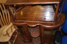 Walnut cocktail cabinet