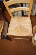 Rush seated high chair