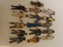 Collection of sixteen Star Wars figures and others