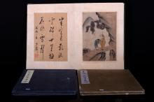 [CHINESE] SET OF  THREE FAMOUS ART BLBUMS (THREE PIECES)(MEASURED WITH THE LARGEST ITEM) L:100