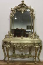 [OTHER]A EUROPEAN STYLED DRESSING DESK WITH MIRROR L:65.5