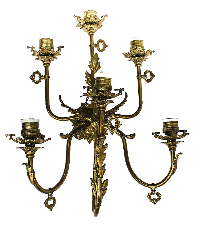 Wall Lamps Bronze : BRONZE WALL LAMP