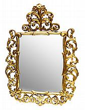 GILTWOOD WALL MIRROR FROM THE MID 20th CENTURY