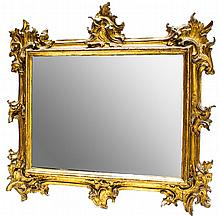 BAROQUE WALL MIRROR CIRCA 1800