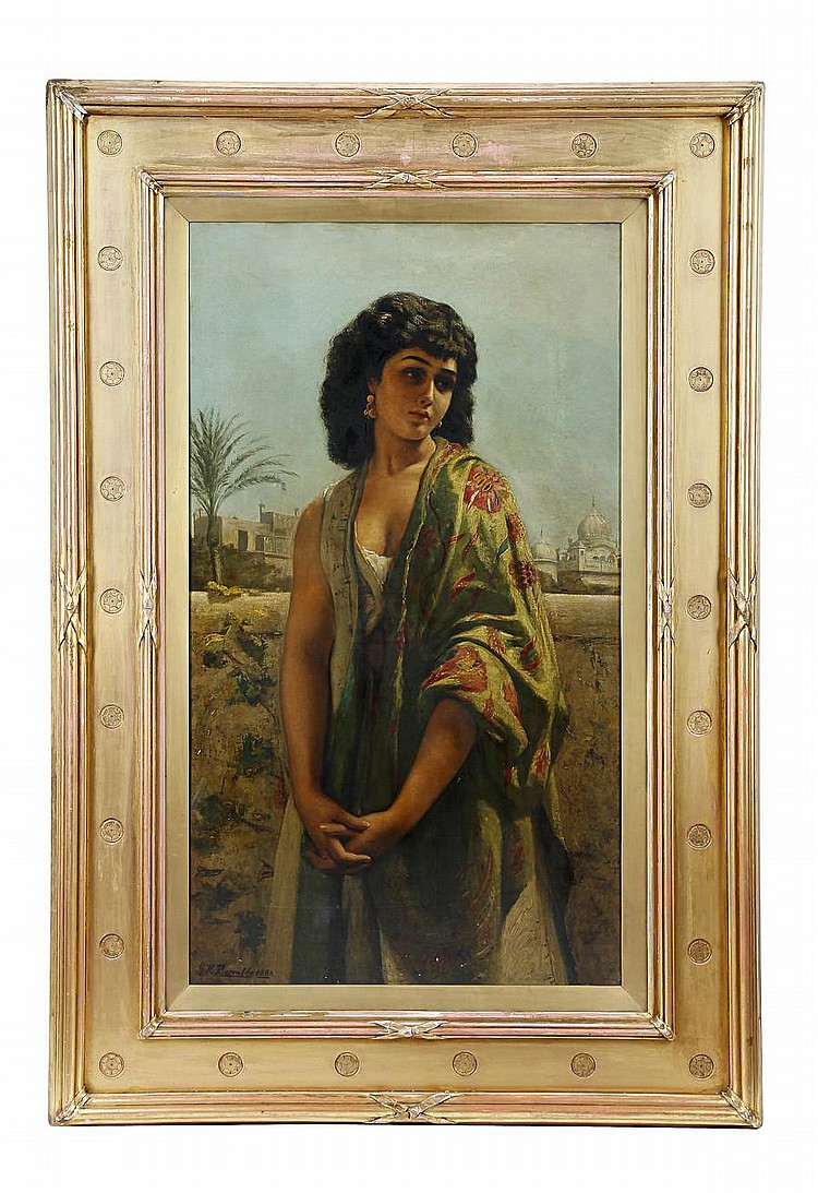 George Hamilton Barrable (British, ?-1887) Leila