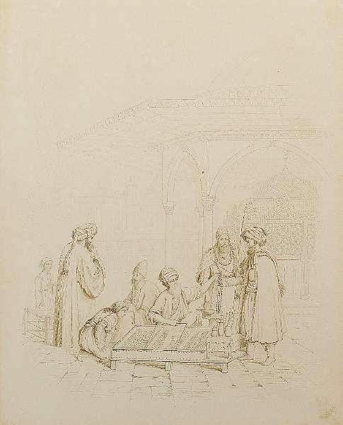 G.E. Opitz (Czechoslovakia, 1775-1841) Six drawings of Ottoman life
