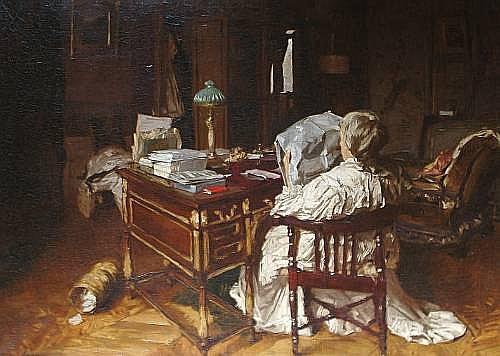 Maurice Joron (French, 1883-1937) The study