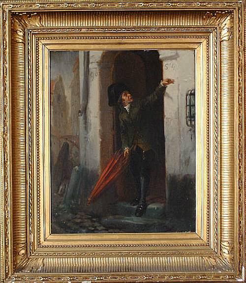 Alexandre Markelbach (Belgian, 1824-1906) A rainy day