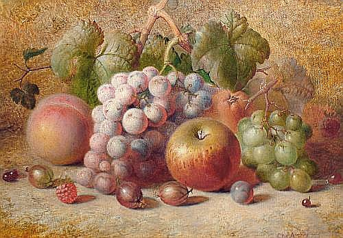 Charles Archer (British, 1855-1931) Still life of fruit, a pair each 25.5 x 36cm (10 1/16 x 14 3/16in) (2)