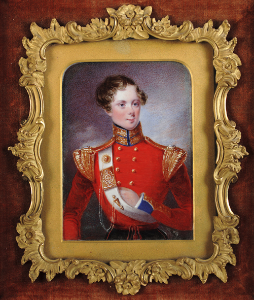 Edward Hayes (Irish, 1797-1864) : Lt William Garforth, half-length, wearing the uniform of the 97th (Earl of Ulsters) Regiment of Foot