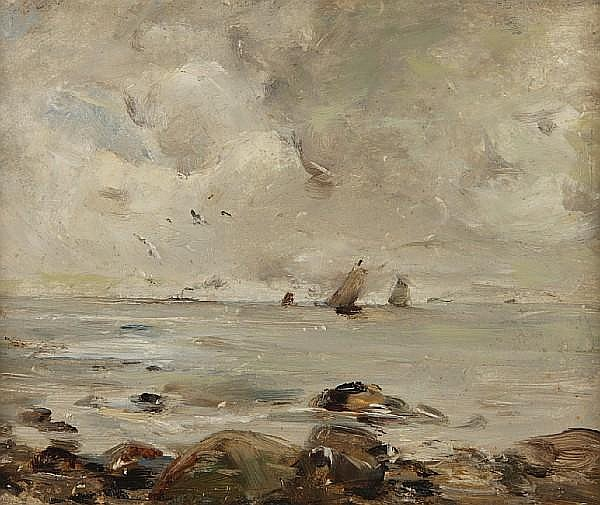 Peter Wishart (British, 1846-1932) Coastal scene