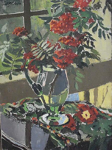 Janetta Susan Gillespie, RSW (British, 1876-1956) A Jug of Rowan