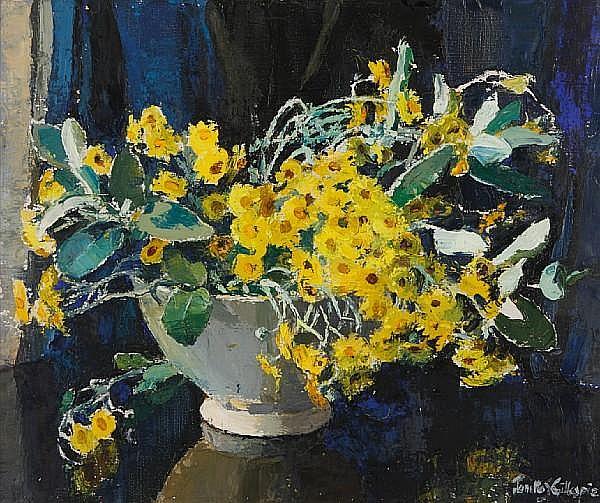 Janetta Susan Gillespie, RSW (British, 1876-1956) Yellow daisies